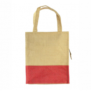 Tote Red Jute Lunch Bag