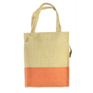Orange Premium Jute Tote Shopping Bag