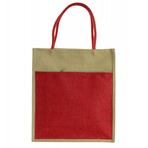 Red Jute Lunch/Shopping Bag