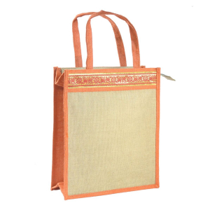 Jute Lunch/Shopping Bag - Orange