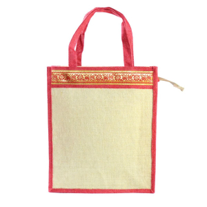 Jute Lunch/Shopping Bag - Red