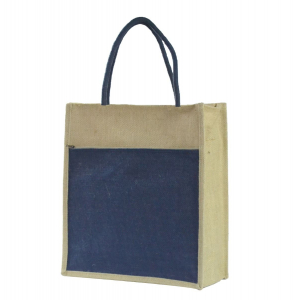 Blue Jute Lunch/Shopping Bag