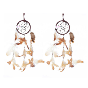 Dream Catcher 3 inch Brown and White - ( Small Combo )