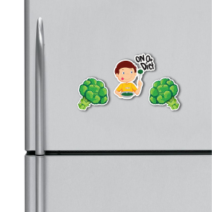 I am on a diet HD Digital Printed ,Fridge Magnets Combo,  Size 4 inches (Pack of 2)