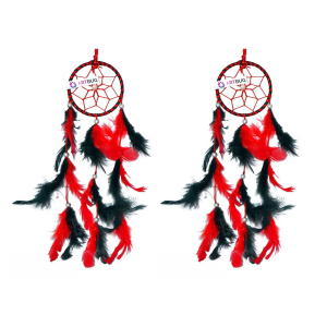 Dream Catcher 3 inch Red and Black - ( Small Combo )