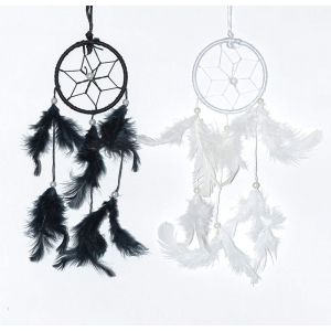Dream Catcher 3 Inch - Black and White (Pack of 2)