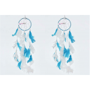 Dream Catcher 3 inch Sky Blue and White - ( Small Combo )