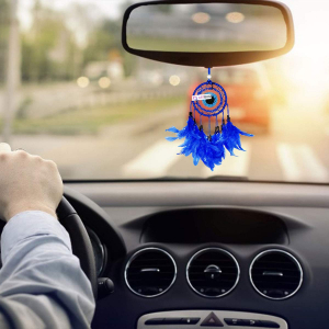 Dream Catcher Evil Eye Car - 3 Inch, Blue