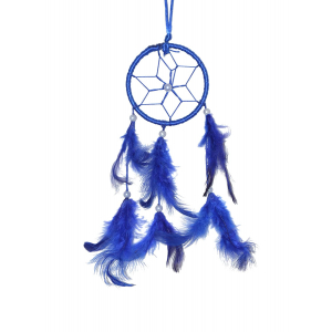 3 Inch Small Blue Dream Catcher Wall Hanging
