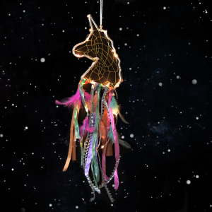 Unicorn Design Dream Catcher Multicolor with LED Lights