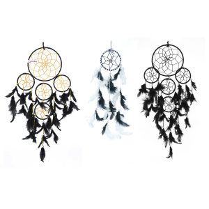 Ashvah 5 Rounds Black Wall Hanging (Combo Pack of 3) for Positive Energy and Protection (Big & Small Combo) - for Home/Office/Shop/Rooms