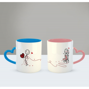 Love ties us together Printed Ceramic Coffee Mug for Couple , Wife , Husband