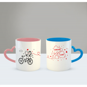 I love you forever and ever Printed Ceramic Coffee Mug for Couple , Wife , Husband