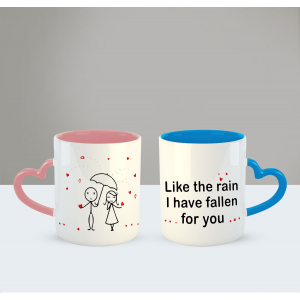 I have fallen for you Printed Ceramic Coffee Mug for Couple , Wife , Husband