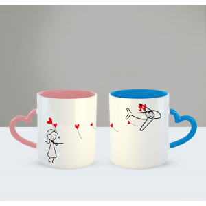 No matter the miles (Girl) Printed Ceramic Coffee Mug for Couple , Wife , Husband