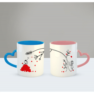 Love grows for you Printed Ceramic Coffee Mug for Couple , Wife , Husband