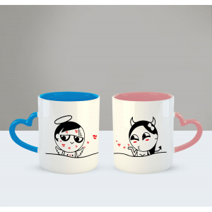Kisses for you Printed Ceramic Coffee Mug for Couple , Wife , Husband