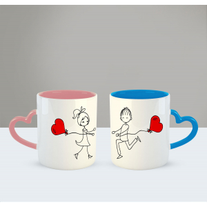 Love at first sight Printed Ceramic Coffee Mug for Couple , Wife , Husband