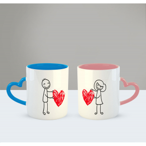 You Just take my heart Printed Ceramic Coffee Mug for Couple , Wife , Husband