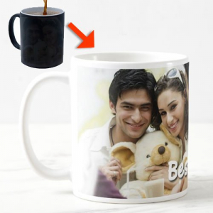 Personalized Color Changing Ceramic Mug - Best Gift for Birthday for Kids, Friends, Brother, Sister, Family, Spouse