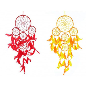 Dream Catcher 5 Rounds (Red) and (Orange/Yellow) - (Pack of 2)