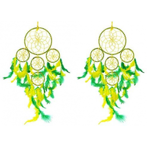 5 Rounds Green Yellow Dream Catcher Combo