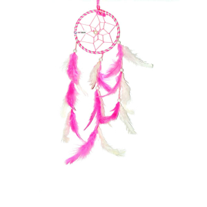 Dream Catcher Small (3 Inch) - Pink and White