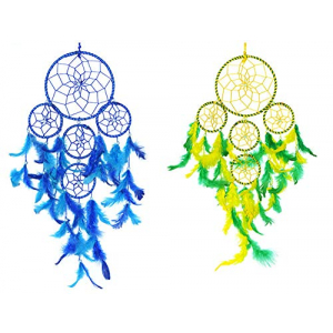 Dream Catcher 5 Rounds (Blue) and (Yellow/Green)- (Pack of 2)