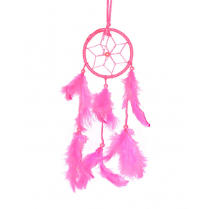 3 Inch Small Pink Dream Catcher Wall Hanging