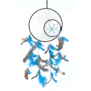 Multi Color Moon Crescent Dream Catcher Wall Hangings (8 Inch) (Large Size)