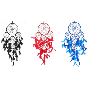 Dream Catcher 5 Rounds Wall Hanging (Combo Pack of 3)
