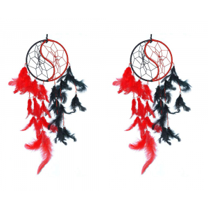 Yin Yang Dream Catcher (Pack of 2) Wall Hanging
