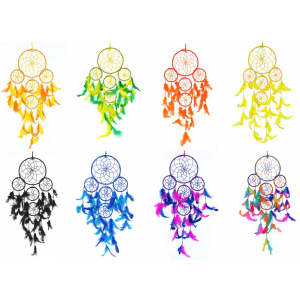 Dream Catcher 5 Rounds Wall Hanging Combo (Pack of 8)