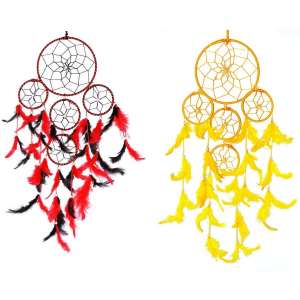 Dream Catcher 5 Rounds (Red/Black) and (Yellow)- (Pack of 2)