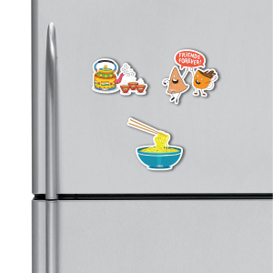 Tea, Samosa, Noodles HD Digital Printed ,Fridge Magnets Combo,  Size 4 inches (Pack of 3)