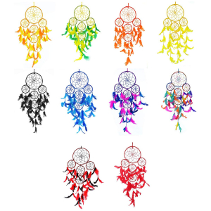 Dream Catcher 5 Rounds Wall Hanging (Mega Combo Pack of 10)