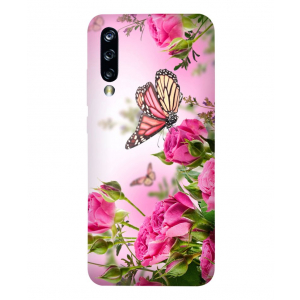 Flower with Butterfly  Xiaomi Mi A3 Mobile Cover