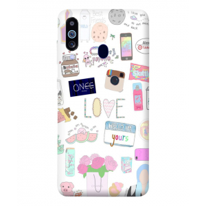 Love Samsung Galaxy M40 Mobile Cover
