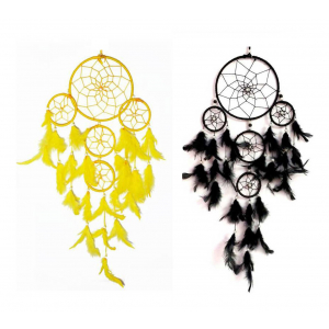 5 Rounds Dream Catcher (Pack of 2) Wall Hanging