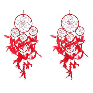 Red Dream Catcher (Pack of 2) Wall Hanging
