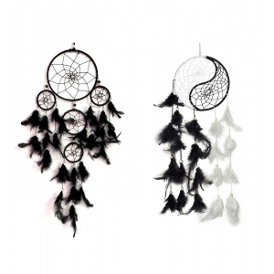 Black Color Dream Catcher (Pack of 2) Wall Hanging