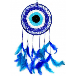 Evil Eye Blue Color Dream Catcher Wall Hanging