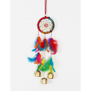 Multicolor 3 Bells Wind Chime / Dream Catcher