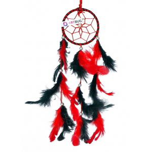 Dream Catcher 3 inch - Red and Black