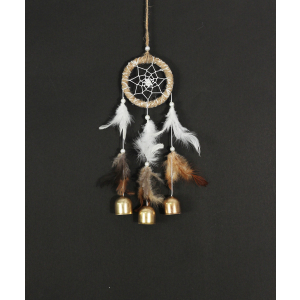 Natural Color 3 Bells Wind Chime / Dream Catcher