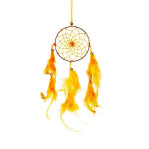 Dream Catcher 3 inch - Yellow (Pack of 1)