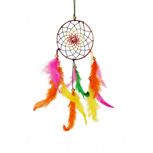 Dream Catcher 3 inch - Multicolor (Pack of 1)