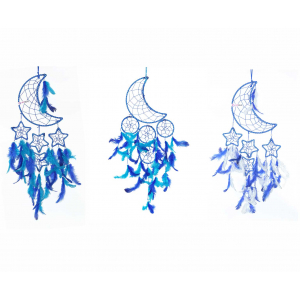 Dream Catcher Moon Crescent - Blue (Combo Pack of 3)
