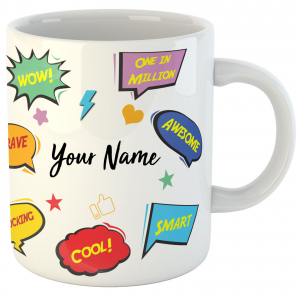 Personalized Name Ceramic Mug - Best Gift for Birthday for Kids, Friends, Brother, Sister, Family, Spouse