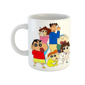 Shin Chan Family Cartoon Ceramic Coffee Mug